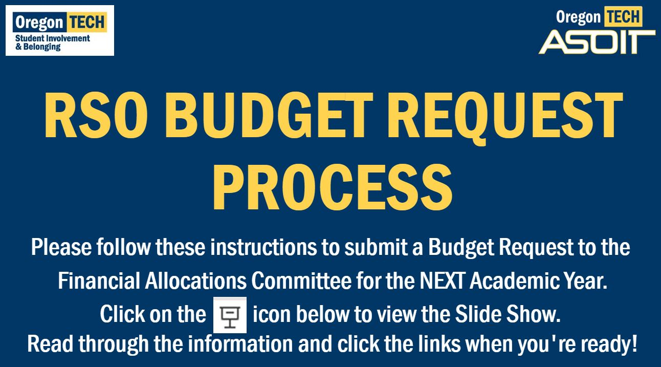 RSO Budget Request Site