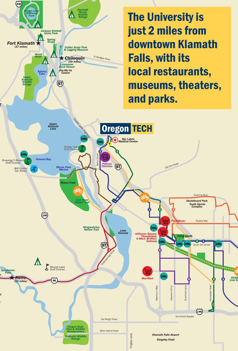 Directions to Klamath Falls
